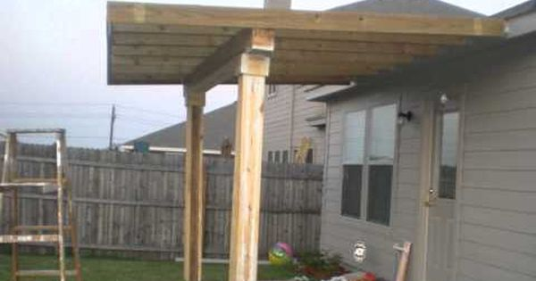how to build a patio cover building a