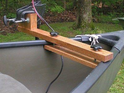 Canoe trolling motor mount - Solid Ash Natural Finish | Canoe