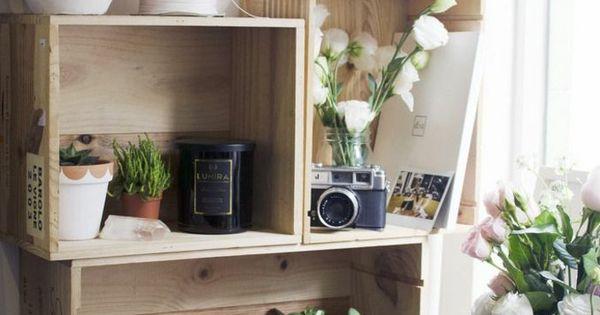 regal f r zimmerpflanzen und schreibtischzubeh r holzkisten bauen diy do it yourself. Black Bedroom Furniture Sets. Home Design Ideas