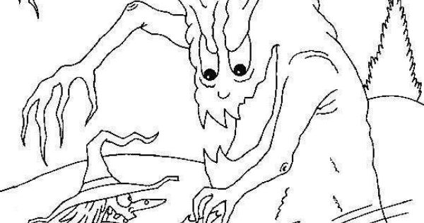 scary halloween tree coloring pages - photo#20