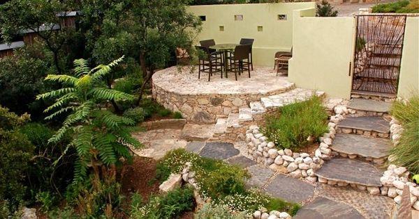 gestaltung landschaft ideen terrassen garten steinboden sitzecke haus pinterest steinboden. Black Bedroom Furniture Sets. Home Design Ideas
