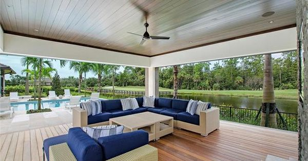 Lanai Roll Down Shutters Contemporary Dream Home Grey Oaks In Naples Fl Naples Florida