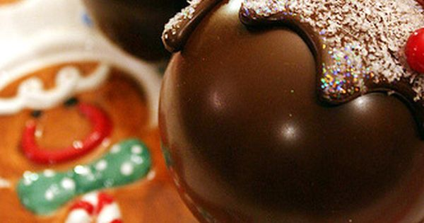 DIY ornaments FAUX choc ,,,,,,,,,,candy ornaments by spray-painting plain glass ball ornaments