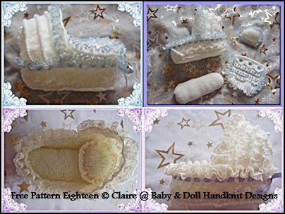 "Patty-Cake Babies ~ 6/"" Doll Bunting /& Bonnet crochet patterns"