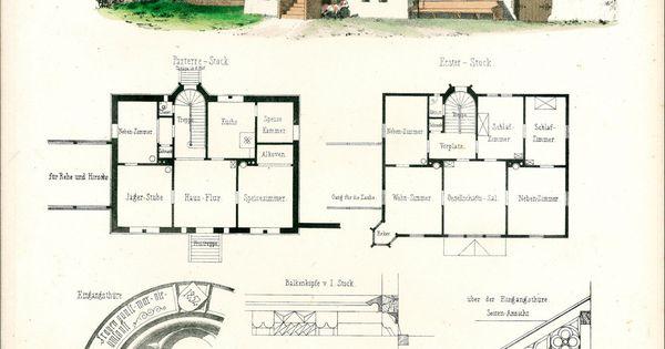 1854 maison foresti re plans d 39 architecte format a3 for Acheter des plans architecturaux