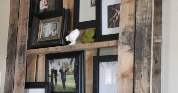 Pallets Wall, Pallet Shelves, Pallets Shelves, Wall Shelves, Photos Display, Pallets Ideas,
