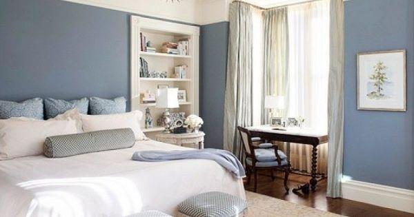 dormitorio blanco y azul gris ceo la magia del color