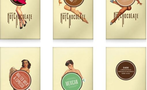 Kyle Tezak designed this beautiful retro, vintage package design with sexy pin-ups