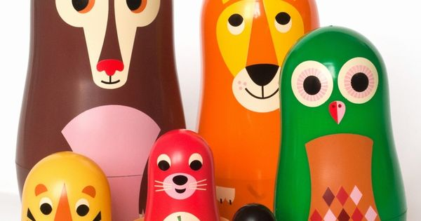 OMM Design Studio Matryoshka Animal Nesting Dolls $30