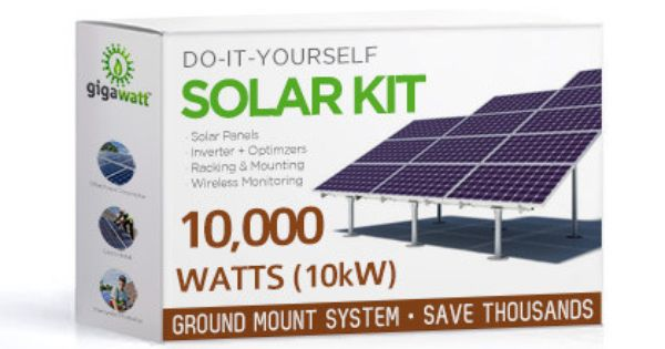 10kw Ground Mount Solar Installation Kit 10 000 Watt Solar Pv System Complete Grid Tie Systems Solar Kit Solar Heating Solar Installation