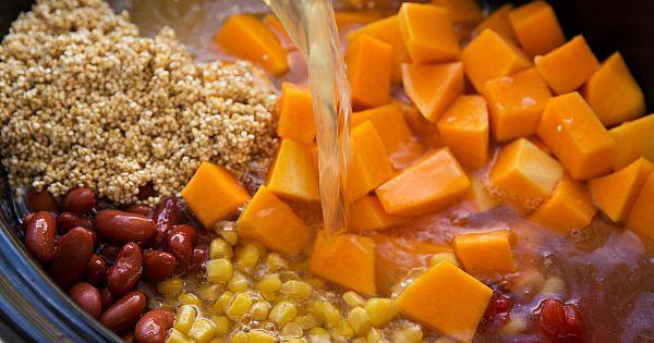 Crockpot Butternut Squash, Chicken, and Quinoa Soup   Recipe   Jack o ...