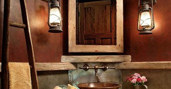 30 Inspiring Rustic Bathroom Ideas For Cozy Home Leather Walls And Cabin