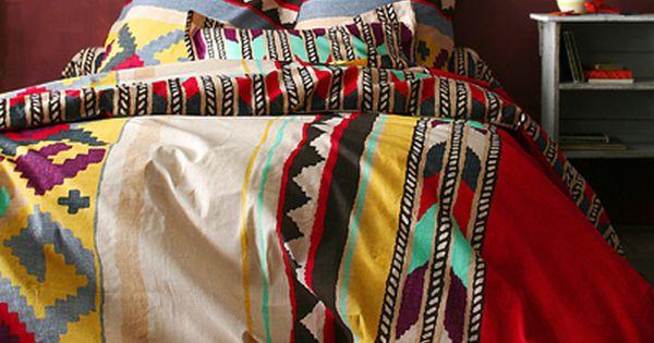 Aztec comforter, rustic bedding