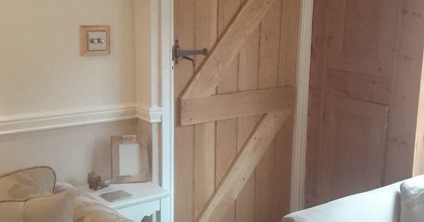 solid oak ledge and brace door  cottage door  frame and