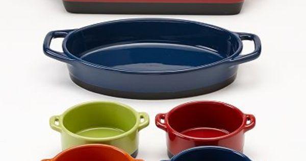 Bobby Flay 6 Pc Ceramic Bakeware Set Ceramic Bakeware Set Ceramic Bakeware Bakeware Set