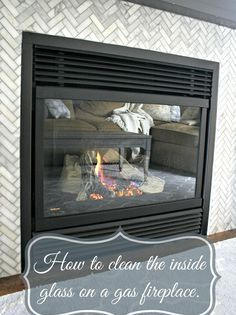 Cleaning Gas Fireplace Glass Glass Fireplace Clean Fireplace