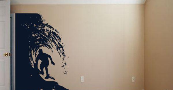 Dude in the Barrel Hawaiian Style Vinyl wall art by 3rdAveShore, $203.00  surf art ...