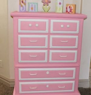 This Is So Bright And Cheery I Feel Like Its Smiling At Me By Jaclyn Girl Dresser Kids Furniture Redo Furniture