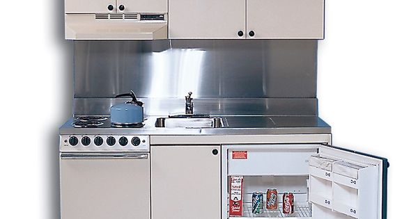 Countertop Oven Gas : Compact Kitchen with Stainless Steel Countertop, 4 Gas Burners, Oven ...