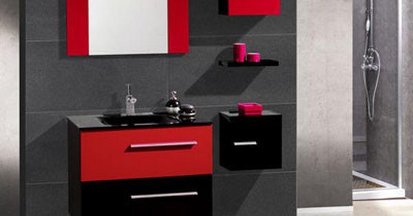 Muebles de ba o con color ba o pinterest decoraci n - Muebles de bano rojos ...