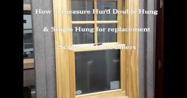 Hurd Double Hung Single Hung Screen Jamb Liner Double Hung Diy Window Hanging