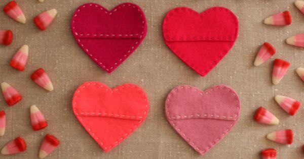 : Felt Candy Hearts - valentine craft 11 Feb craft class