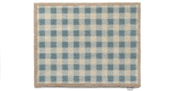 Hug Rug Dirt Trapper Washable Door Mat Approx 25 X 33 Duck Egg Check Kitchen 11 By Cotswold Mat Co Ltd 54 95 Waffle Backing Created From Recycled Car