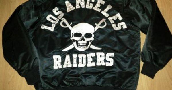 Vintage Los Angeles Raiders Black Satin Jacket 80 S Nfl Fans Raiders Satin Jackets