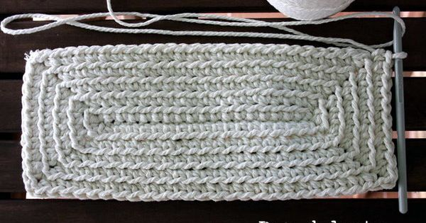 Crochet Tote Bag Tutorial Part 1 : Crochet Rectangle - Tutorial 4U hilariafina http://www ...
