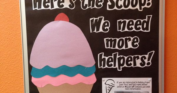 "Volunteer recruitment idea: Ice cream incentive and ""Here ..."