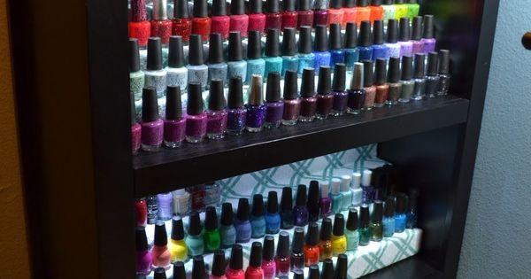 nail polish rack diy nail polish rack shelf display. Black Bedroom Furniture Sets. Home Design Ideas