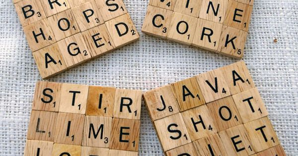 Scrabble tile coasters-fun winter craft idea!