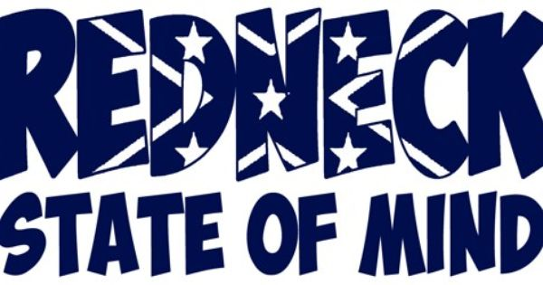 redneck state of mind vinyl decal sticker rebel flag