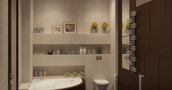 Salle de bain travertin en blanc cass et marron fonc for Quelle plante dans une salle de bain