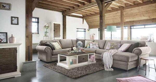 Bank darone is het ultieme familie bankstel pronto wonen villa arena woonstijl landelijk - Deco gezellige lounge ...