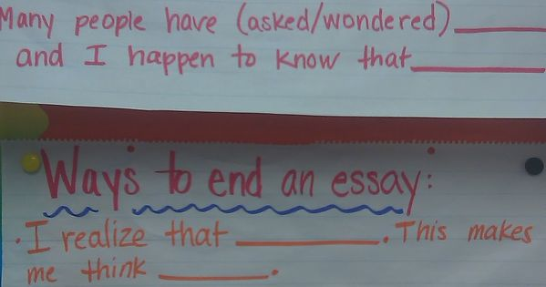 The correct way to start an essay