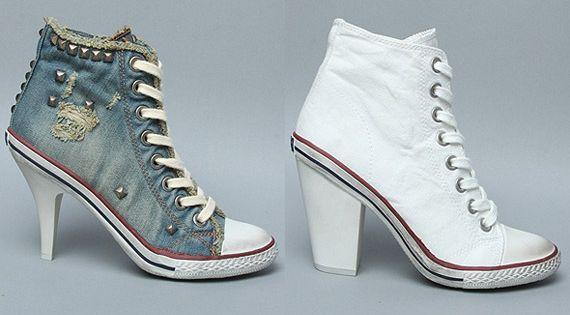 Cute sneakers high heels