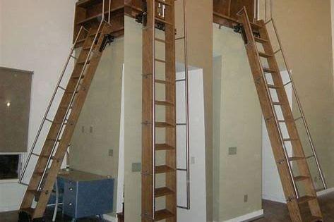 60 Best Attic Ladder Ideas That You Should Know Escalier De Loft Escalier Escamotable Escaliers Modernes