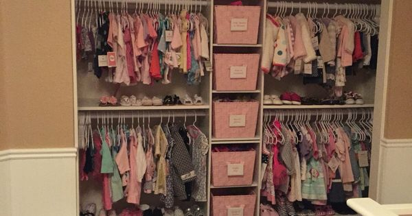 Closet  Baby Girl Helzer  Pinterest  옷장, 정리 및 침실 아이디어