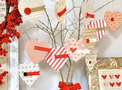 Little Birdie Secrets: love notes valentine tree {valentines craft}