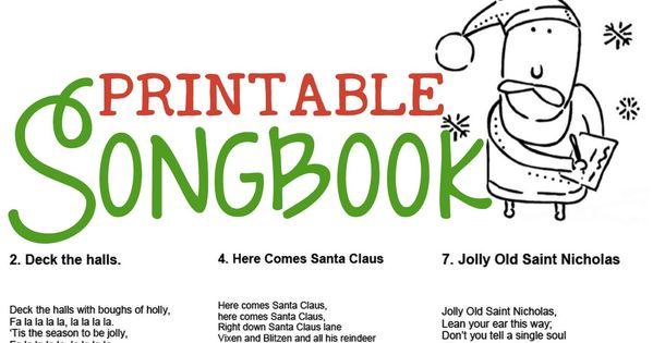 Christmas Carol Printable: Christmas Songs For Kids