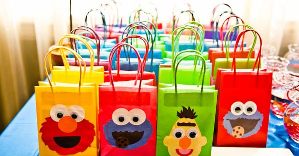 sesame street party gift bags