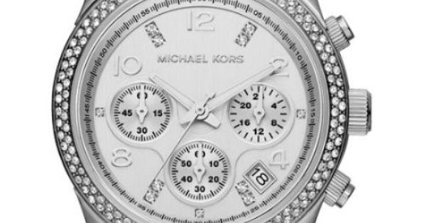 new michael kors mk5825 runway crystal chronograph ladies watch in. Black Bedroom Furniture Sets. Home Design Ideas