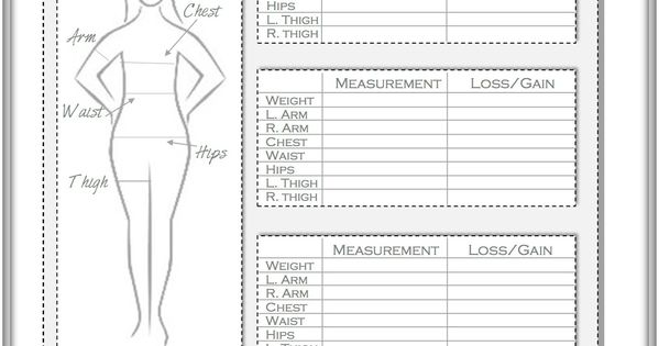 Weight Loss and Measurement Progress Tracker | Healthy Me ...