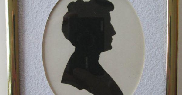 Antique Silhouette Woman's Portrait 1900s Profile Hand Cut