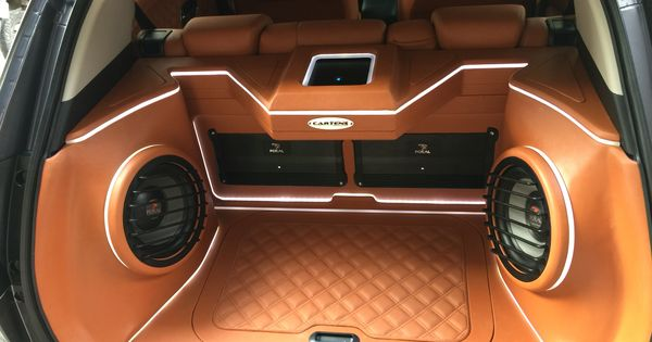 Customized Car Audio Design In The Trunk Caraudio