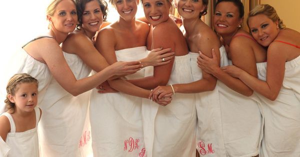 Personalized Spa Towel Wrap Monogram Embroidered (Bridesmaid Gift Idea)