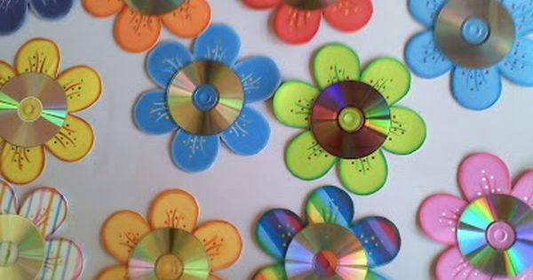 Artesanato com cd e eva passo a passo