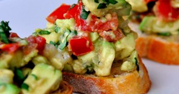 Guacamole Bruschetta Recipe -=- Perfect Summer Snack or Appetizer, YUMM !!