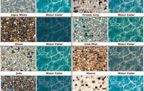 Wonderful Pool Finish Ideas For You To Copy: StoneScapes Mini Pebble Is A Naturally Beautiful Look Of A